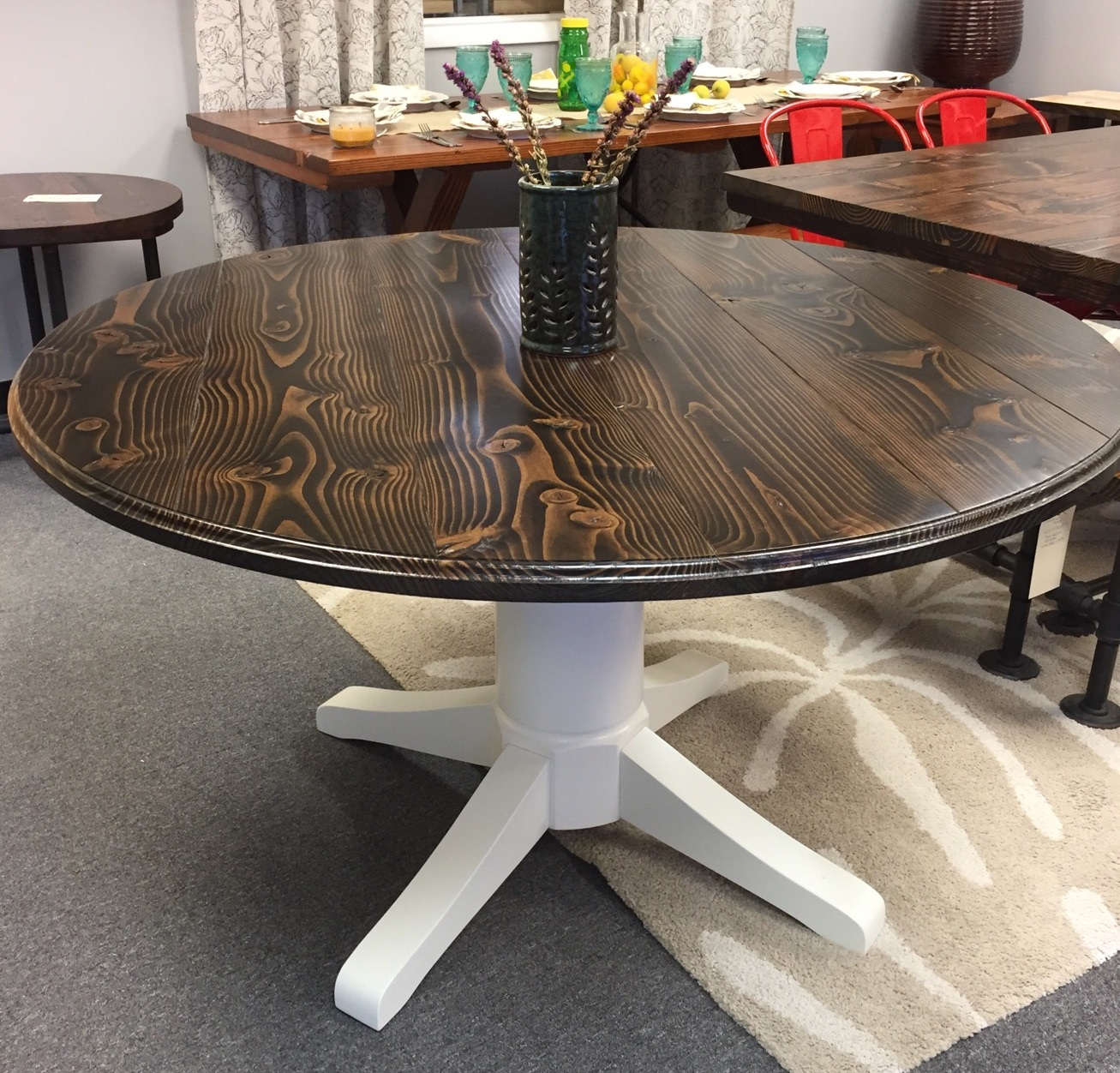 Circle Round Farmhouse Dining Table Round Tables Emmorworks