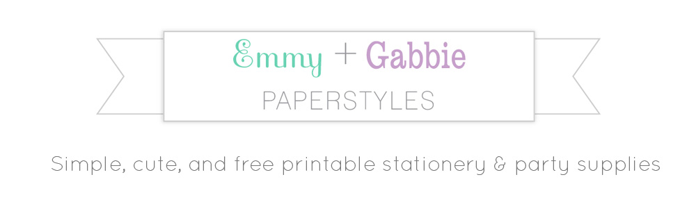 Etsy Shop News Emmy + Gabbie Paperstyles Fabulously cute