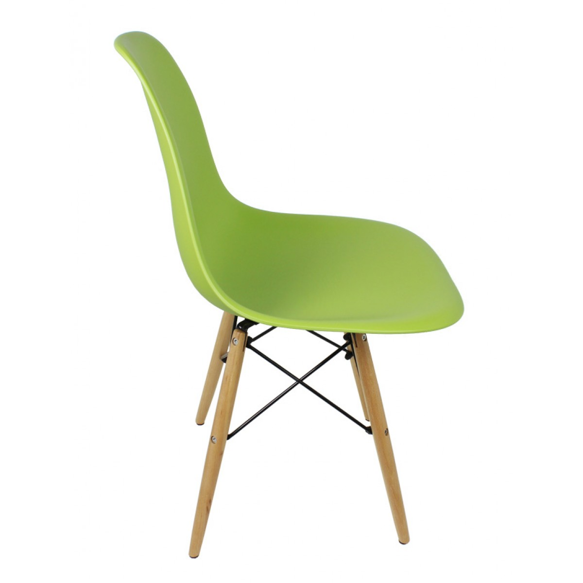 Sedia Wooden Eames Set Of 4 Dsw Molded Lime Green Plastic Dining Shell Chair With Wood Eiffel Legs