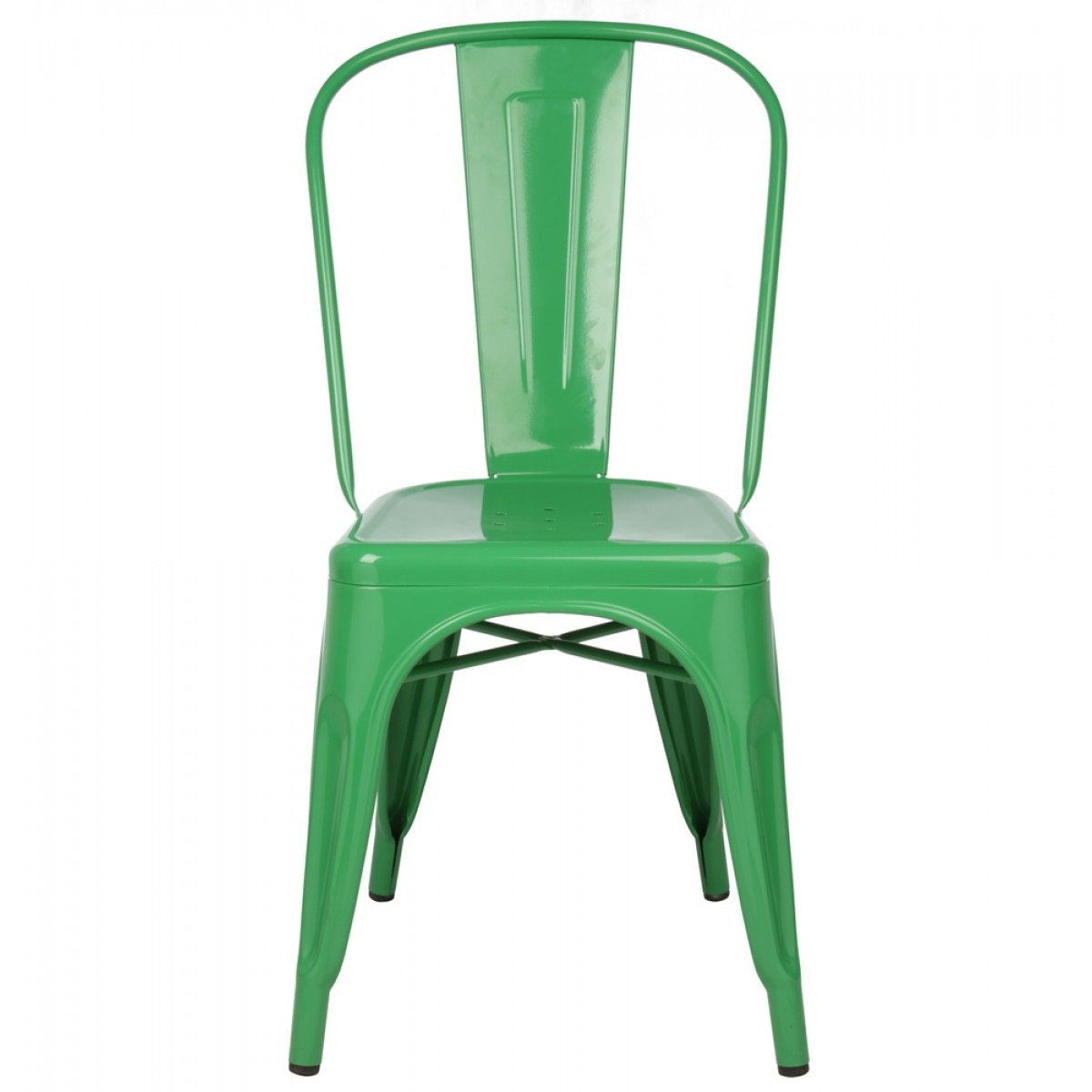 Modern Industrial Chair Tolix Style Metal Industrial Loft Designer Green Cafe Chair
