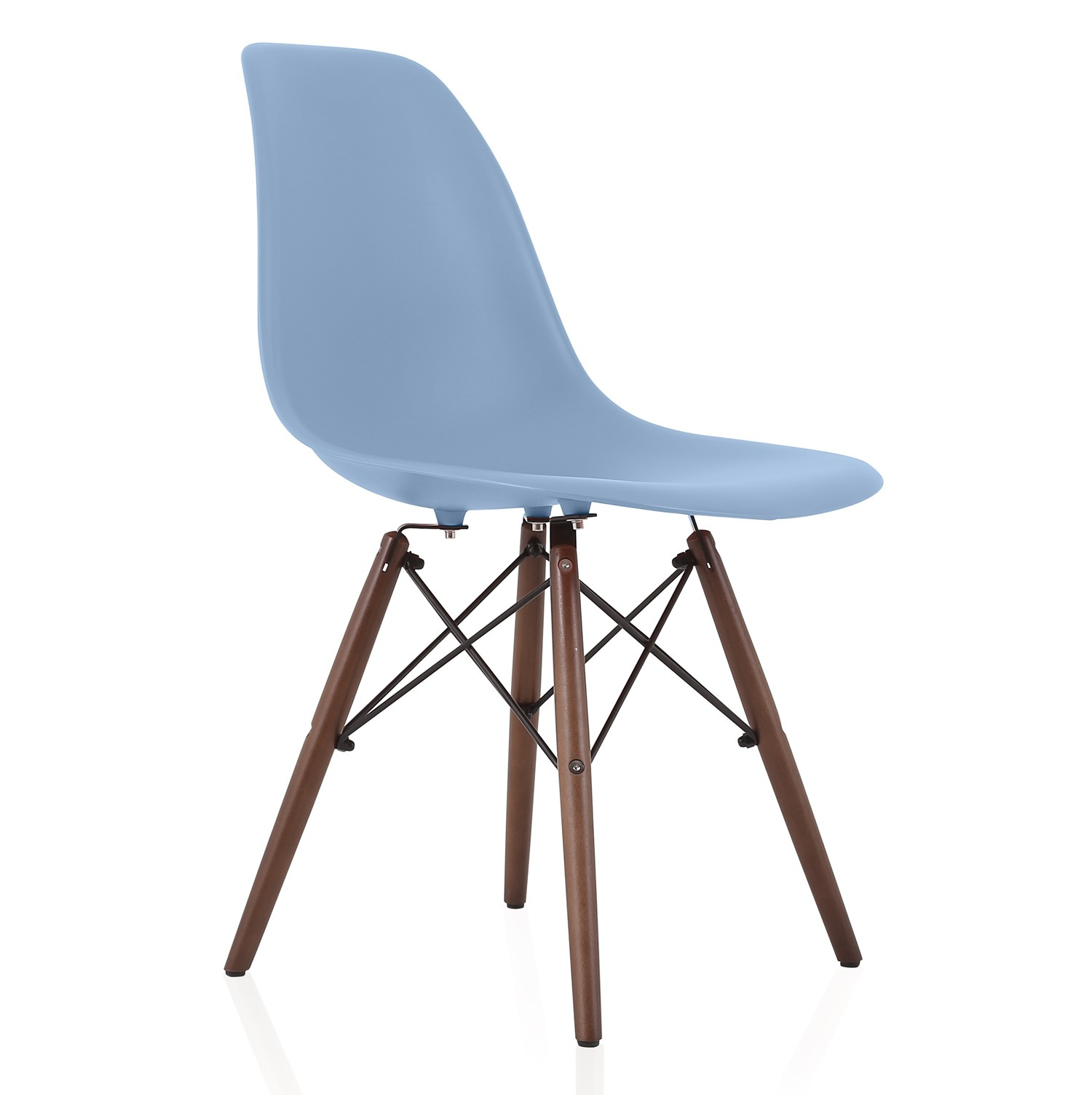 Chair Price Nature Series Slate Blue Dsw Molded Plastic Dining Side Chair Dark Walnut Wood Eiffel Legs