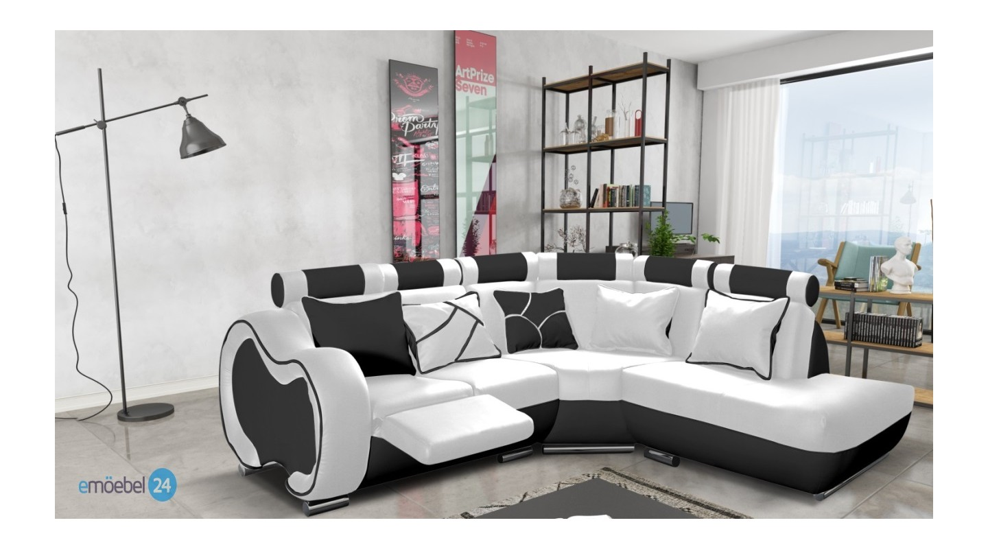 Sitzecke Eternity Eckcouch Leder Wei Gallery Of Cool Good Sam Ecksofa Wei Schwarz