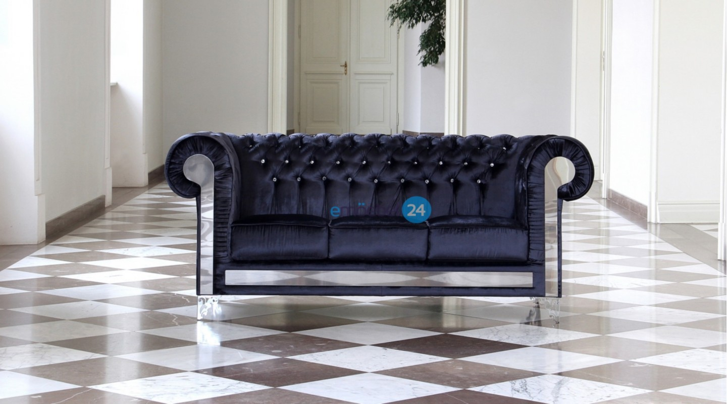 Chesterfield Couchtisch Chesterfield Glanz Set 321 Sofa Hocker Couchtisch Kollektion