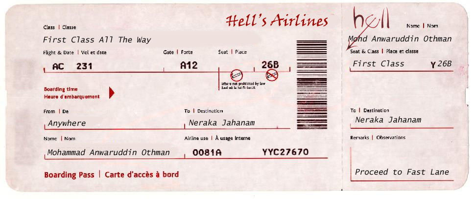 Airline Ticket Template Word - airplane ticket template
