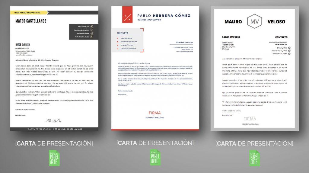 ESTRUCTURA Y ENVIO DE CARTA PRESENTACIÓN EMPAPELARTE