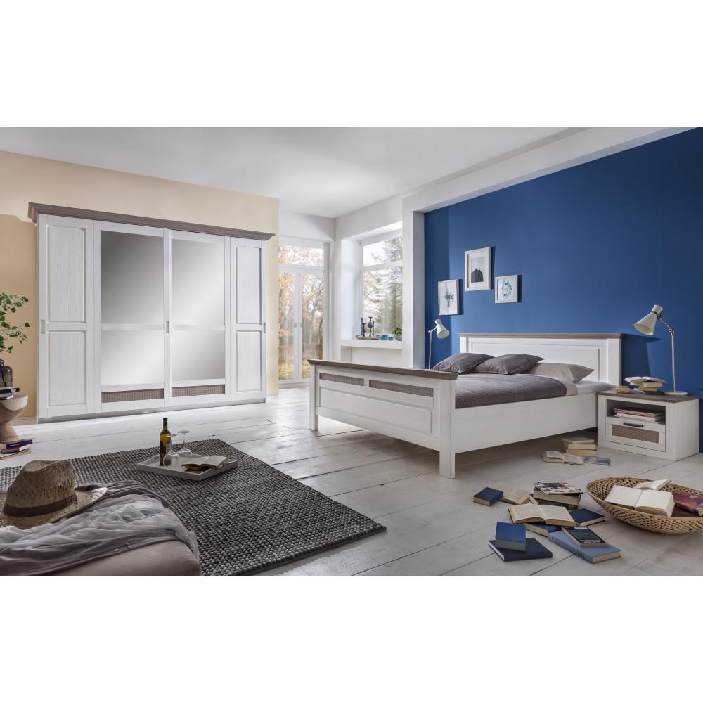 locarno schlafzimmer set schwebeturenschrank bett 160x200 2x