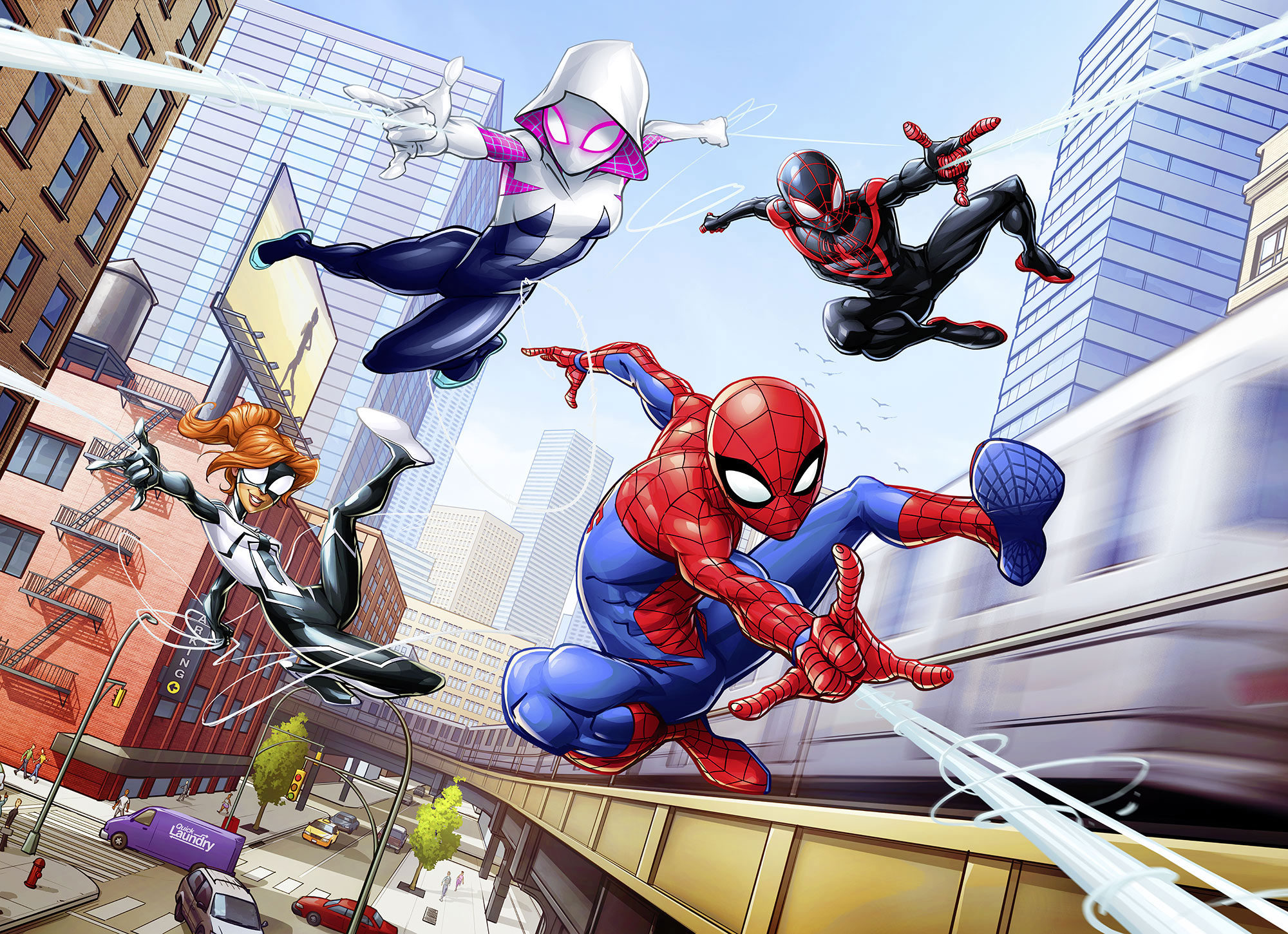 Tapete Comic Spider Man Marvel Foto Tapete Spider Man Friendly