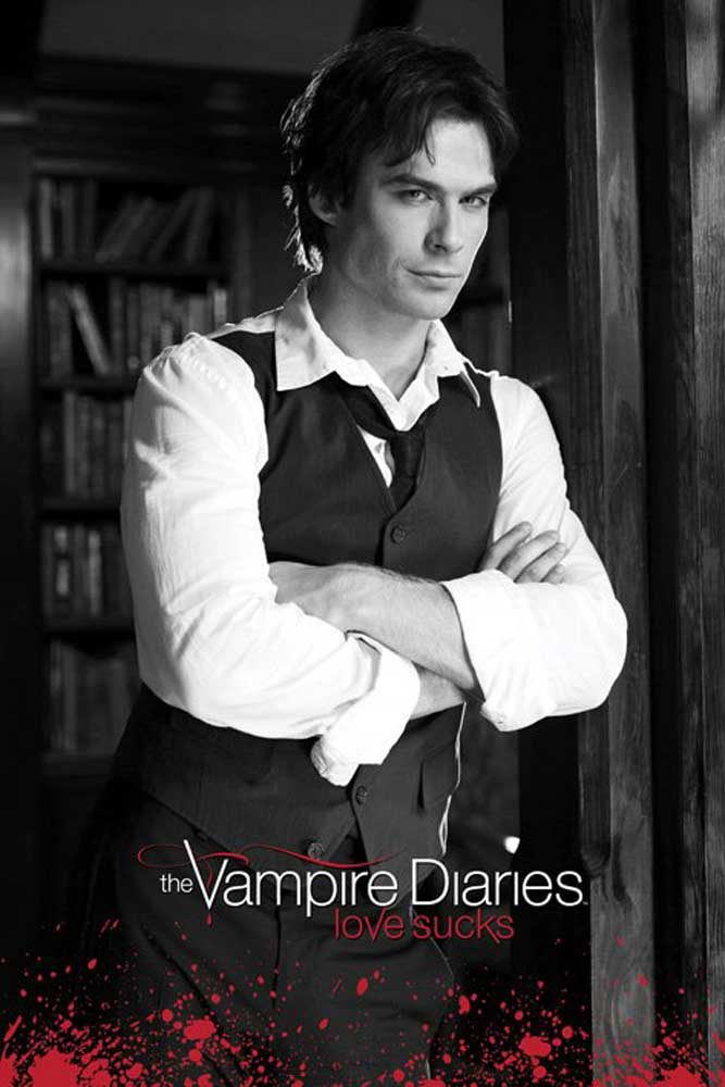 Wand Poster The Vampire Diaries - Damon S&w - Poster - 61x91,5