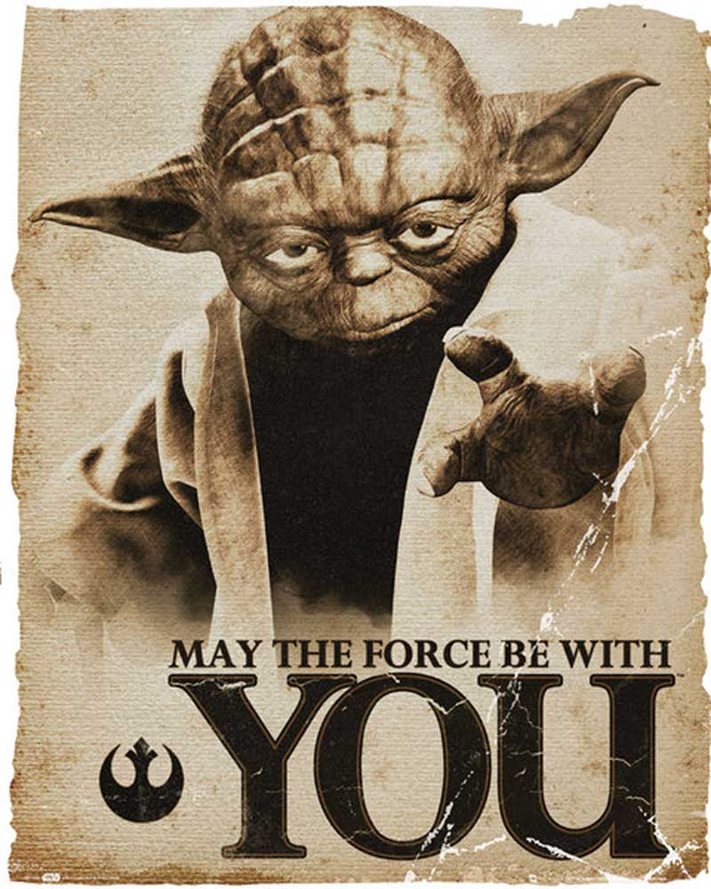 Star Wars Yoda Force Mini Poster 40x50