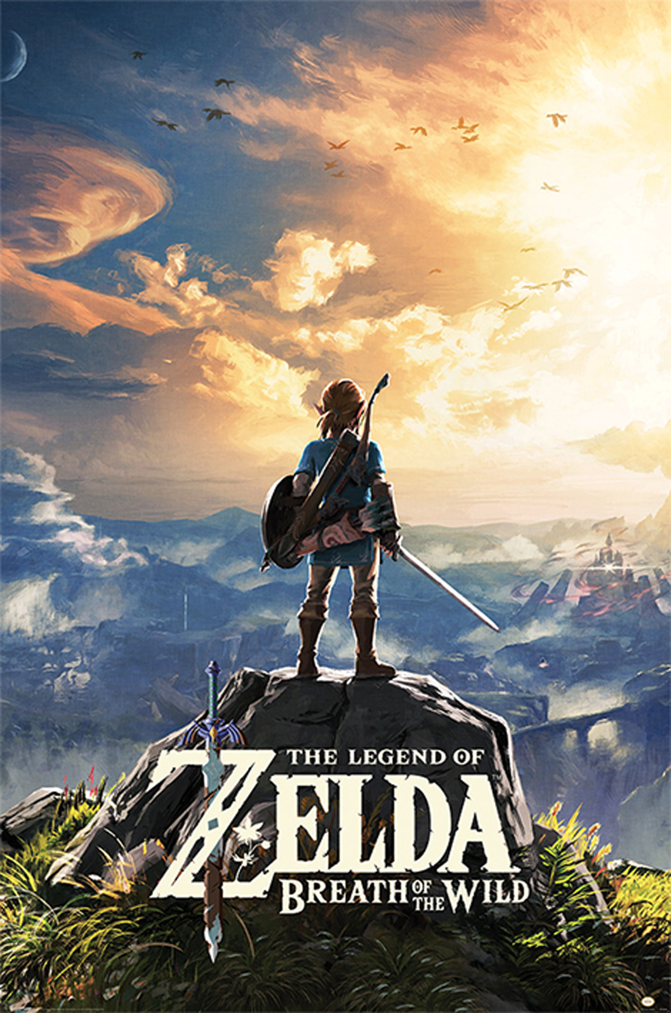 Legend Of Zelda Breath Of The Wild Königliche Küche The Legend Of Zelda Breath Of The Wild Sunset Poster