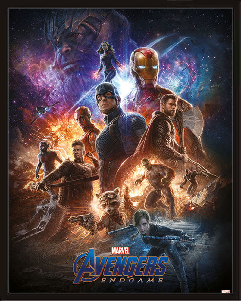 Endgame From The Ashes The Avengers Mini Poster Druck 40x50 Cm