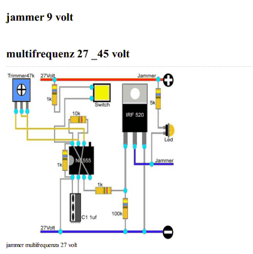 Simple Cell Phone Jammer Wiring Diagram Schematic 2 Manual Guide