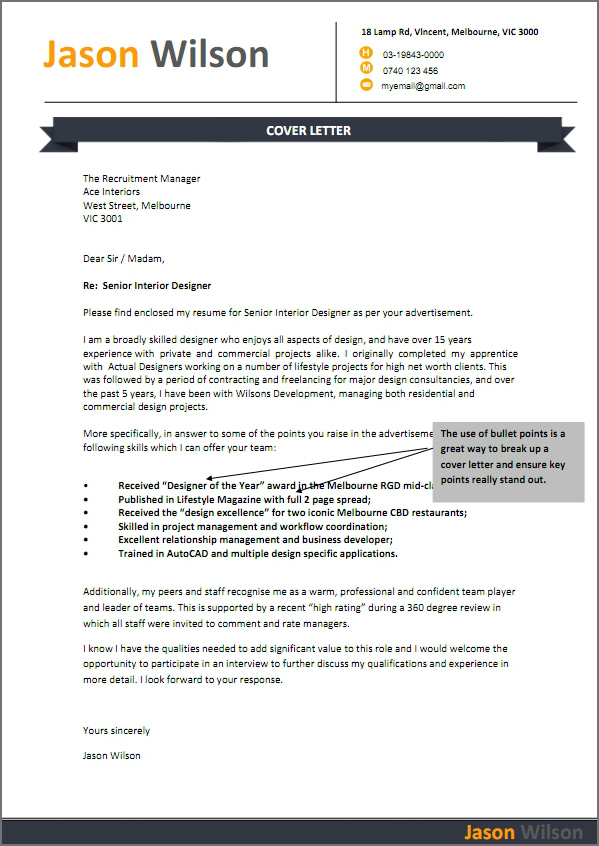 cover letter australian format - Jolivibramusic - writing a resume cover letter