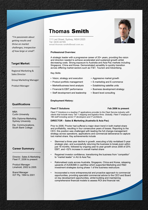 Resume professional