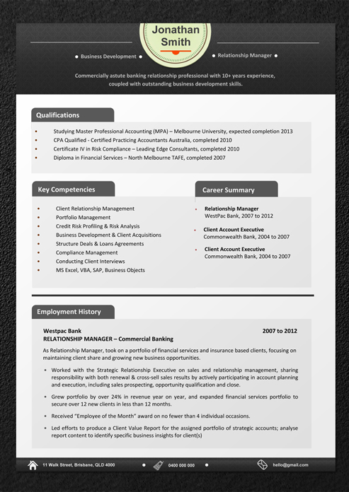 Resume Templates Download - Professional Resume Template and CV - resume template australia free