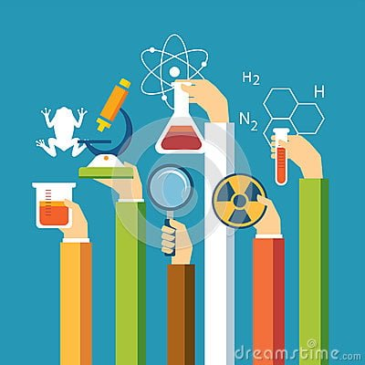 science-concept-physics-chemistry-biology-flat-design-vector-55321047