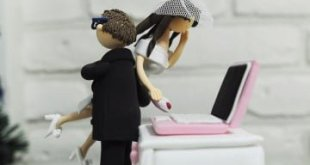 computer-wedding-cake-topper