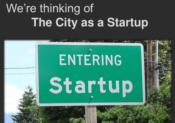 city as a startup