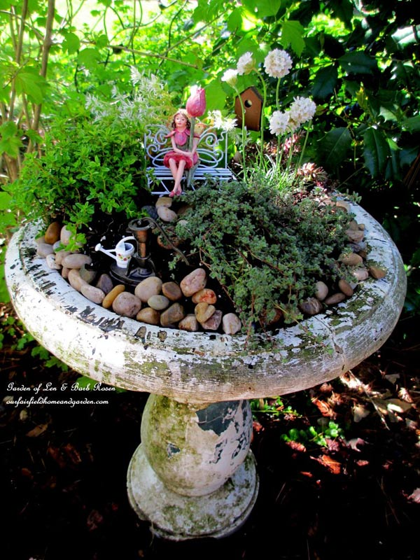 Decoration Fontaine Interieur Create A Garden Art Birdbath Planter | Empress Of Dirt