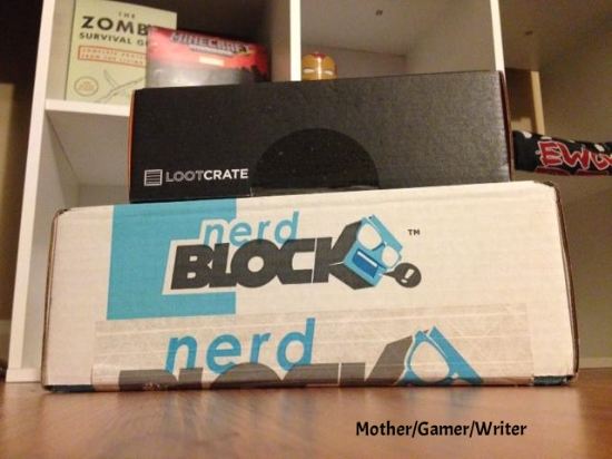 nerd block and loot crate boxes