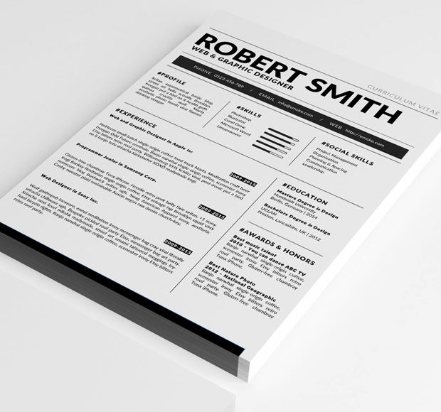 Standard Resume Template (docx, doc) - resume template docx