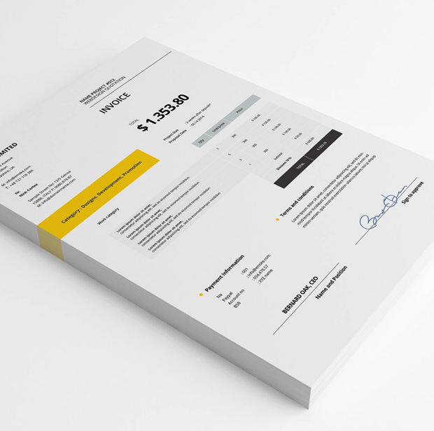 Creative Invoice Template (psd  xlsx) - invoice template with logo