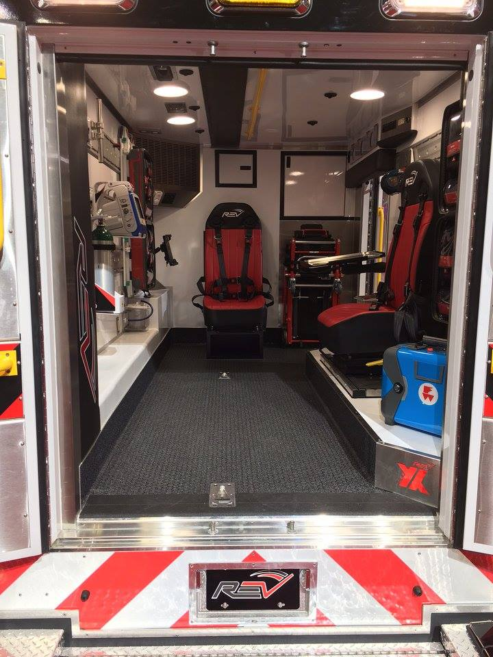 "Wall Mounted Storage New Fdny Ems ""rev/ferno Flex"" Interior Concept Ambulance"