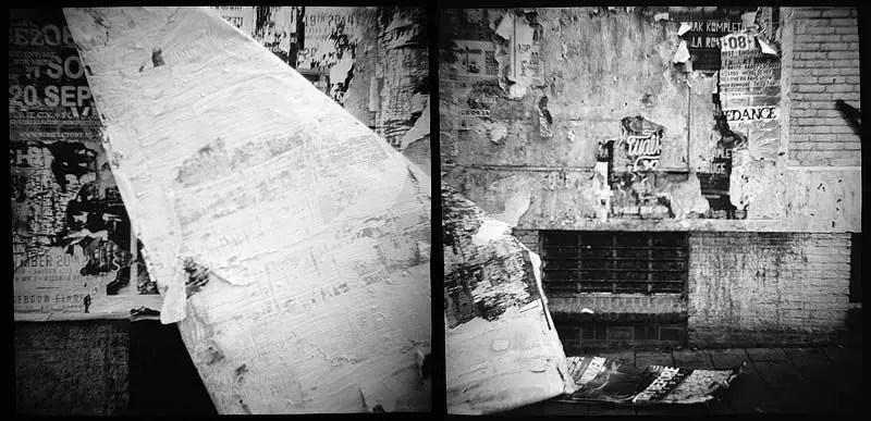 Torn wall - Original Diana - Kodak TMAX 400