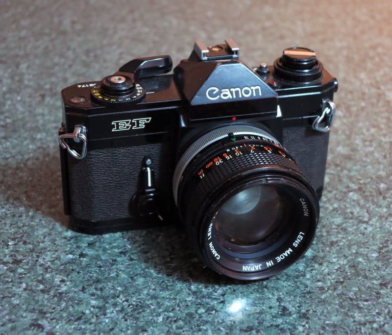 Canon EF -Like an automatic F-1, it's often referred to as the Black Beauty