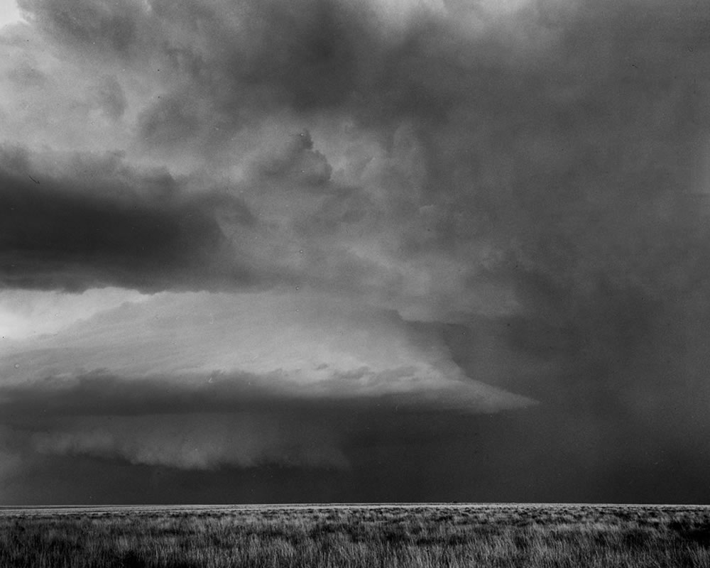 Central Kansas Supercell. Kodak T-max 100. 150mm lens.