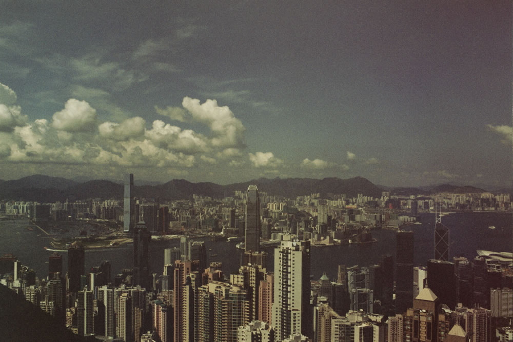 2014 Hong Kong - Olympus OM-1: 28mm f/22, Fuji Superia 400