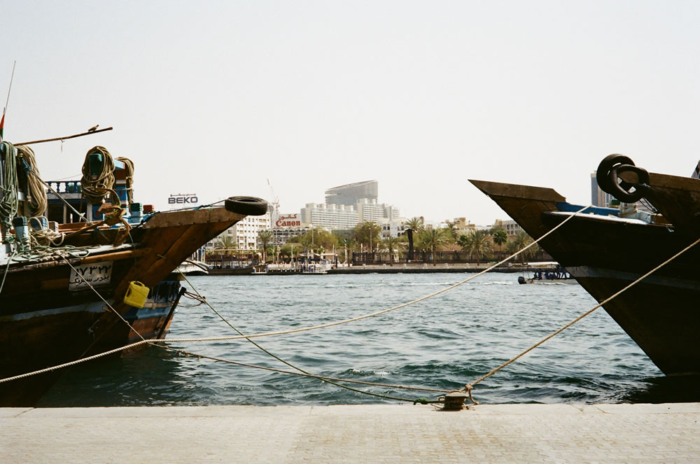 """Dhows & Skyline"" Dubai, April 2014 - Kodak ColorPlus 200 / Zeiss IKON ZM / Zeiss 50mm f/1.5"
