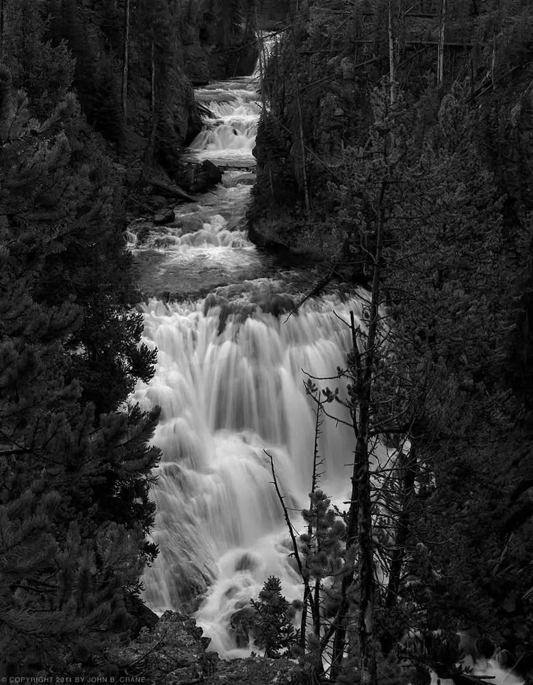 Kepler Cascades, Yellowstone National Park, WY - Mamiya RZ67, Kodak T-MAX 100