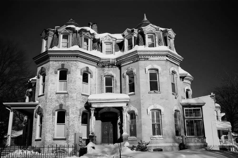 Old Mansion. Konica Hexar AF, Kodak T-Max 100.