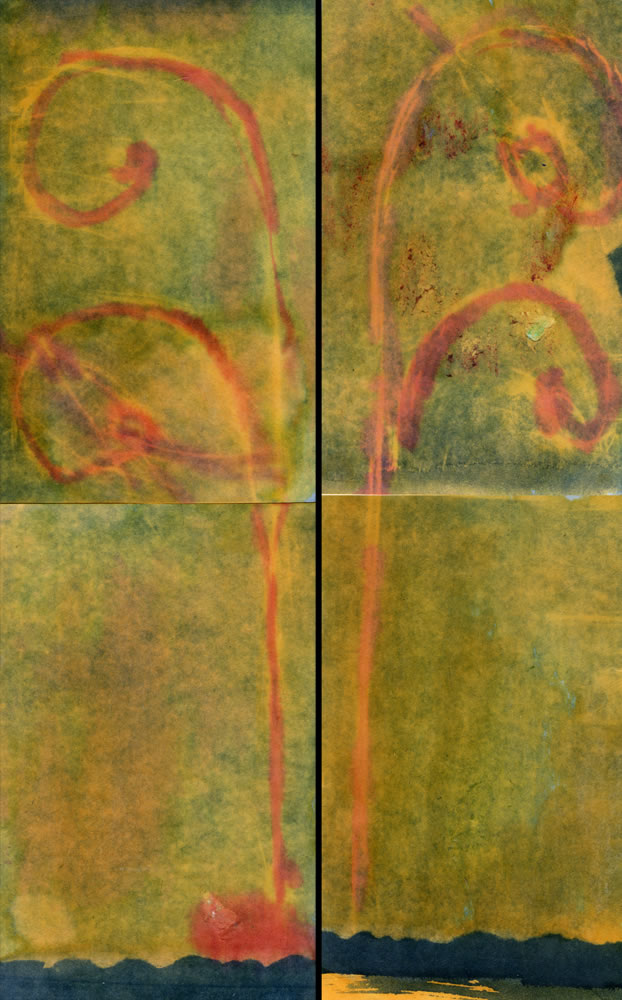 Four Hand-colored Cyanotypes - John Nanian