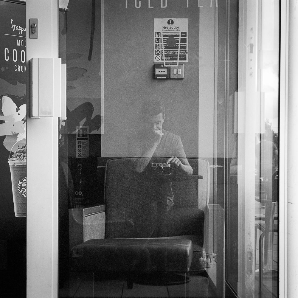 Self portrait with Leica, Ilford XP2 Super, Leica M6 TTL, 2016