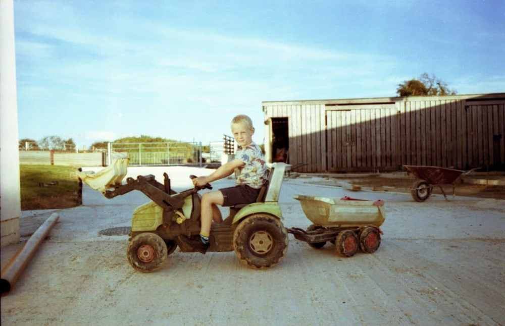 My nephew and his tractor in Wales. Out of date Jessops C41 film.