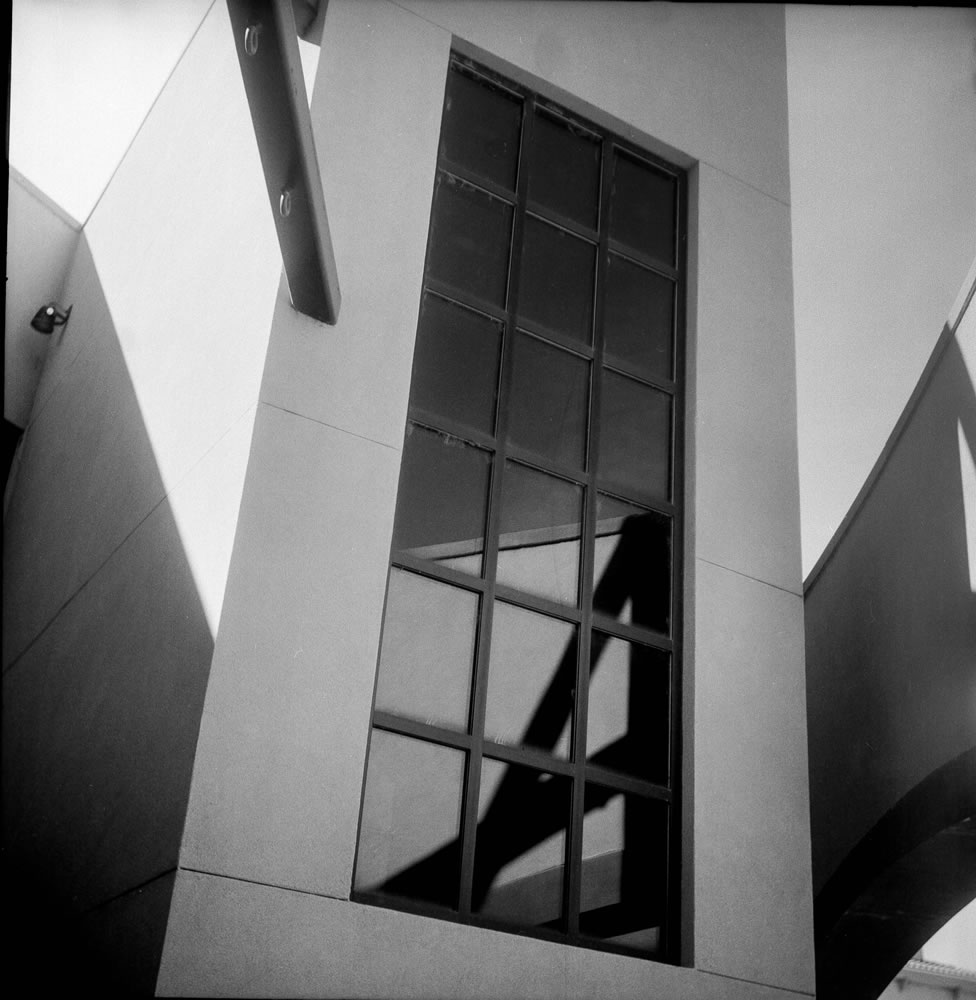 Reflection of you and me - Ilford Pan F - Yashica-A
