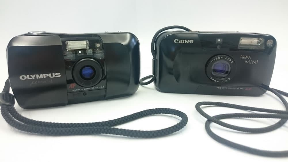 Olympus MJU vs the Canon Prima Mini - Side by side