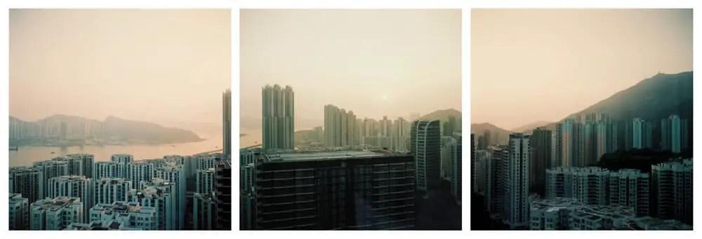 Tai Koo sunrise triptich - Kodak Portra 400 - Mamiya 6 75mm f3.5
