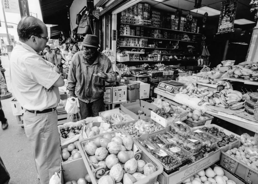 Market in Chinatown - Chinatown market. Los Angeles, CA. Canon EOS-3, Fujifilm Acros 100.