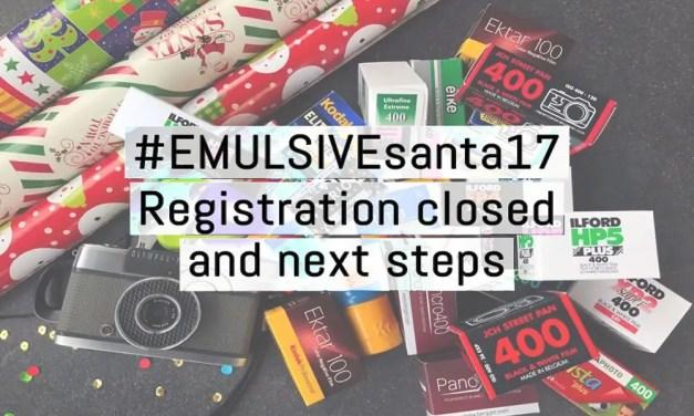 EMULSIVE Santa 2017: registration is closed and next steps