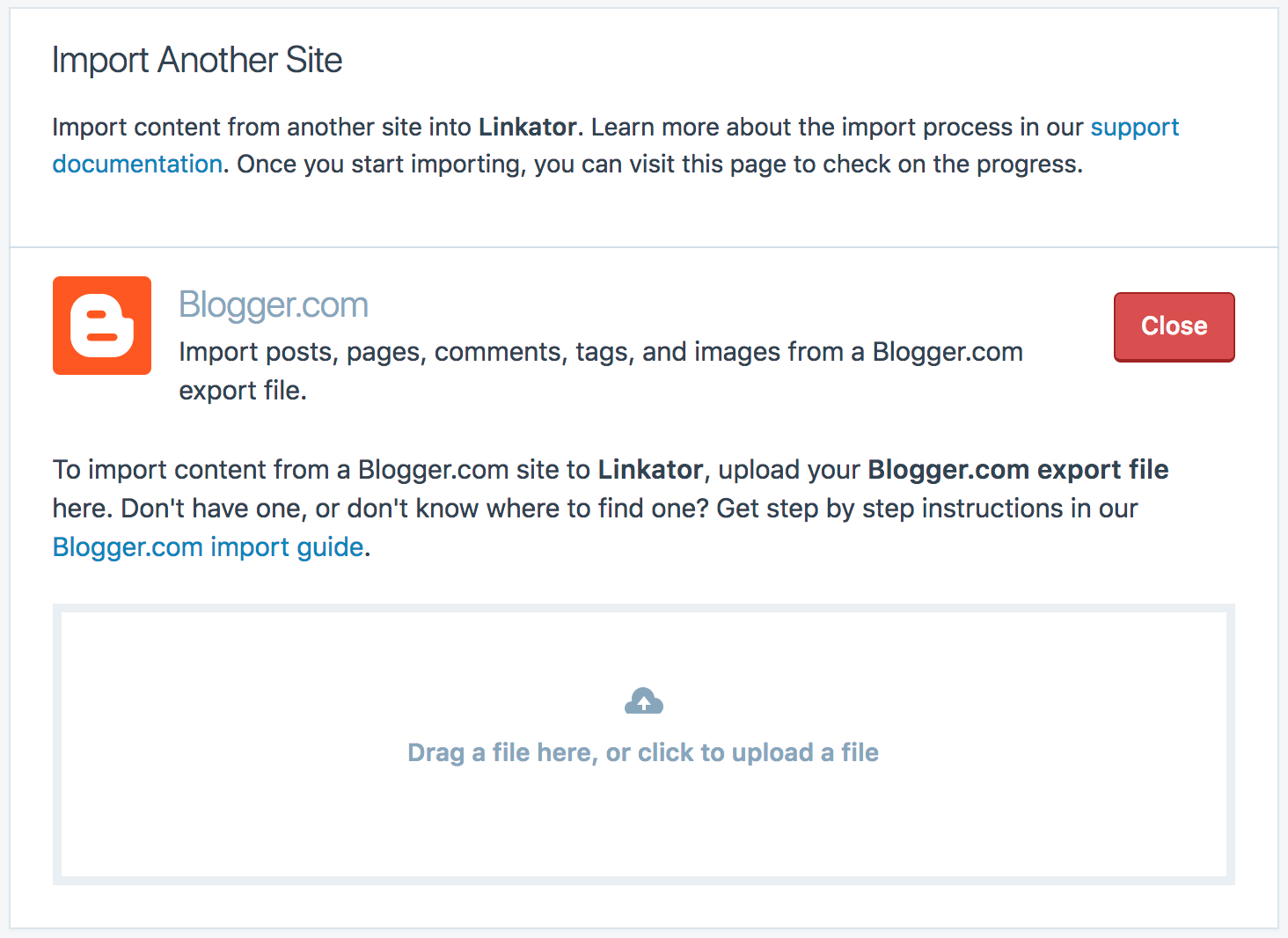 Blog Blogspot Wordpress Import From Blogger Support Wordpress