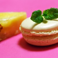 Pineapple and Mint Macarons