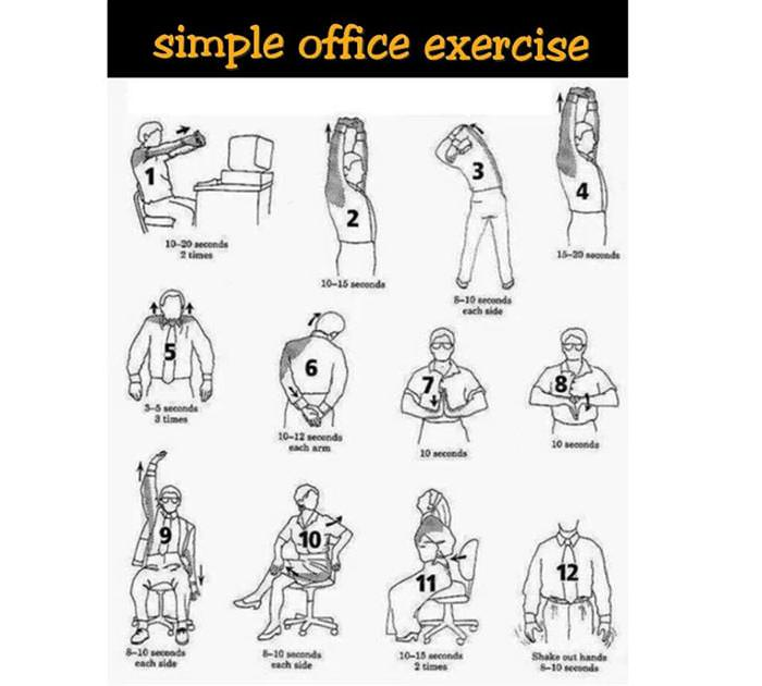 Health Tip Simple Office Exercise Health - BabaMail - office exercise