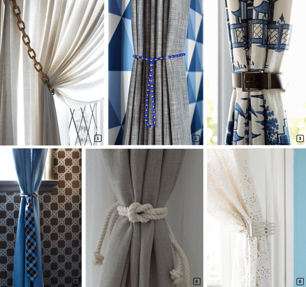 Unique Curtain Tie Backs 18 Creative Ideas For Hanging Curtains Bnbstaging Le Blog