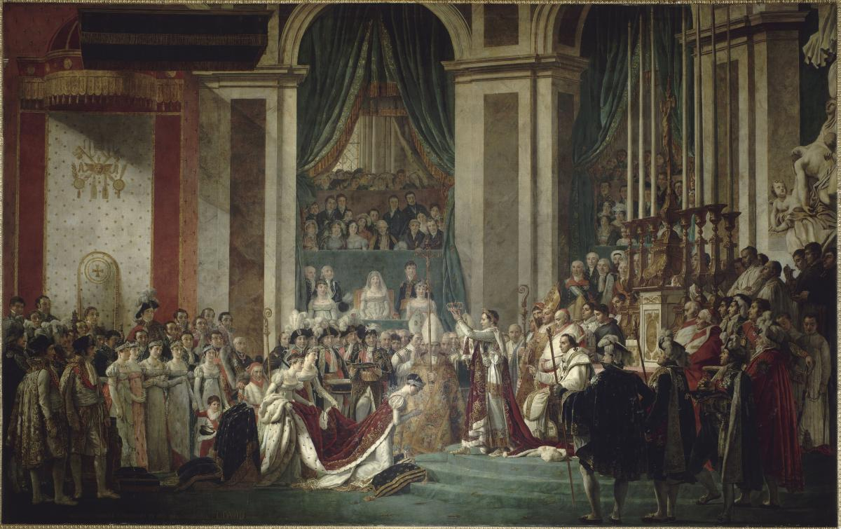 Kaiser Bonaparte Tapijt The Coronation Room Palace Of Versailles