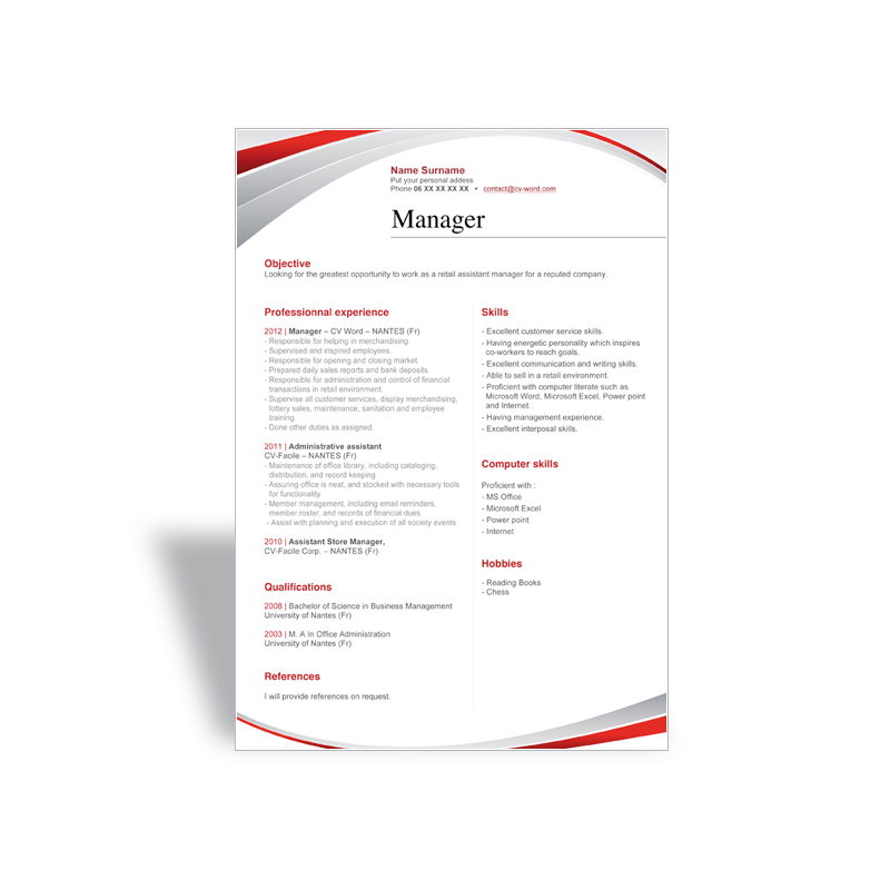 Resume Templates Word Mac Resume Templates For Word Download Download And Write A Great Word Cv R233;sum233; Template Manager