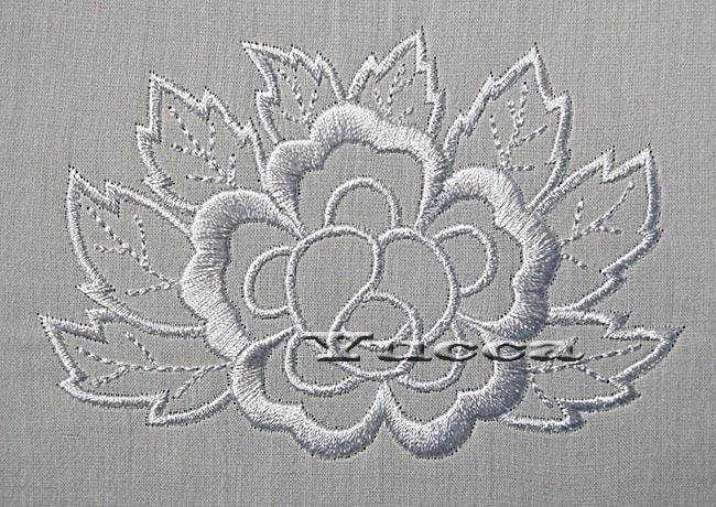 White Flower Free Machine Embroidery Design