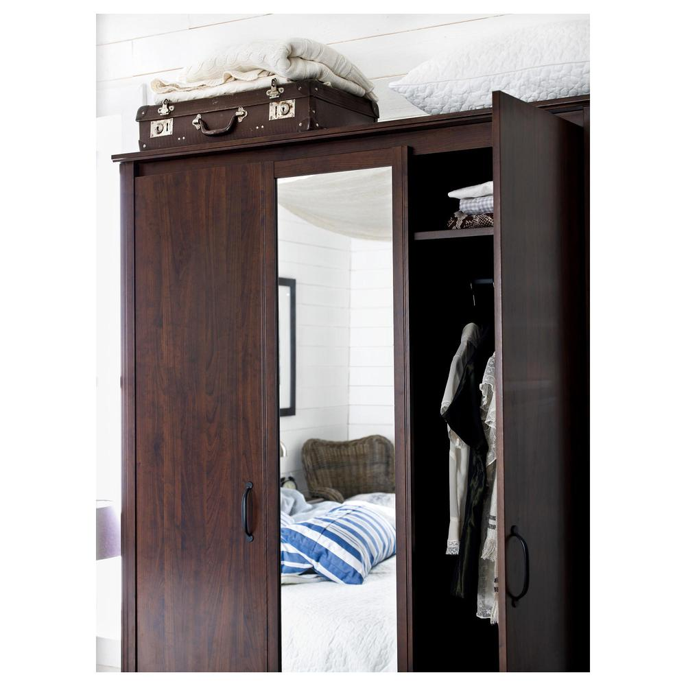 Brusali Wardrobe Brusal The Wardrobe 3 Door Brown